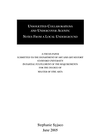 Stephanie Syjuco: Unsolicited Collaborations and Undercover Agents: Notes from a Local Underground, 2005